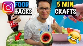 "Awful ""5 Minute Crafts"" Food Hacks!! I Actually Tried them"