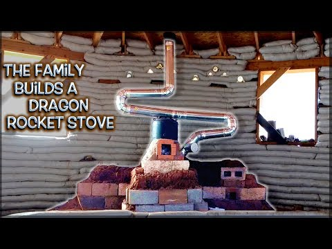 The Family Builds a Dragon Rocket Stove Mass Heater   Full Version Show