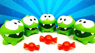 Om Nom. Toy's adventures - Funny video with toys.
