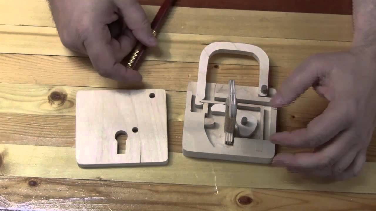 Scroll Saw Padlock - YouTube