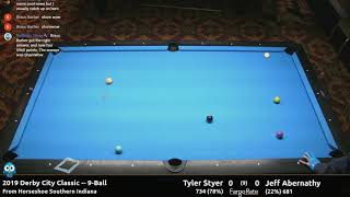 Tyler Styer vs Jeff Abernathy - 9-Ball - 2019 Derby City Classic