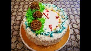 ТЫКВЕННО АПЕЛЬСИНОВЫЙ торт рецепт НОВОГОДНЕЕ украшение торта Cake decoratoin Cake recipe