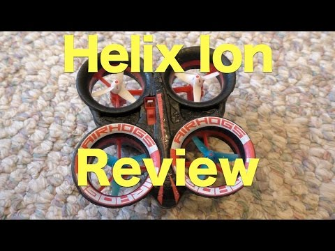 Air Hogs Helix Ion Review August 2015. RC Quadcopter That Does Stunts