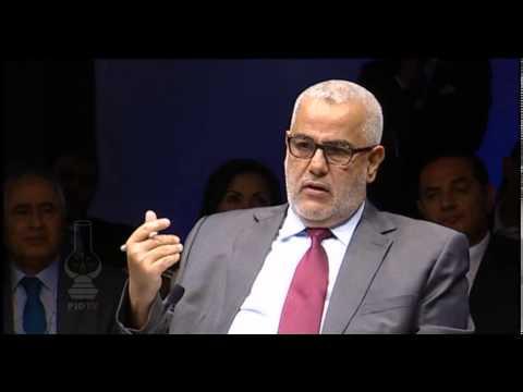 بنكيران في جلسة أثناءالمنتدي الإقتصادي العالمي بالأردن