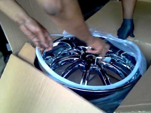 unboxing new rims for grand prix