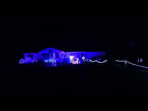 "Moses Family Christmas Lights 2013 ""DJ Christmas-Canzoni di Natale (Dance Remix)"" Fremont, Ohio"