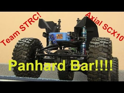 STRC Off Axle Servo Mount / Panhard Bar For The Axial SCX10