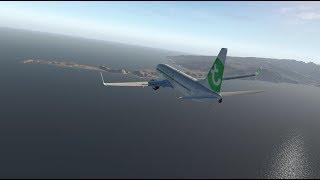 X Plane 737-800 Landing in Madeira with IAN - Zibo Mod 3.05z