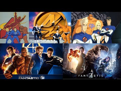 Fantastic Four - Evolution in Cartoons & Films