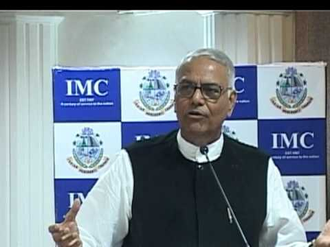Yashwant Sinha at IMC