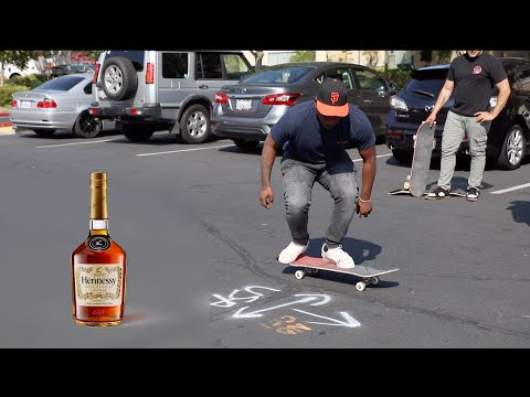 Gangster Takes 5 Shots of Henny Then Tre Flips