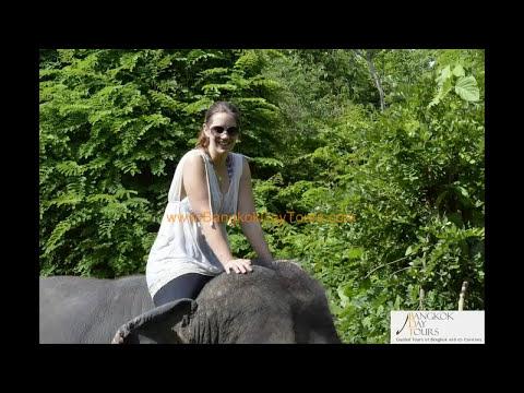 Ride and Bathe Elephant Tour Thailand by Bangkok Day Tours