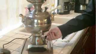 "Making Delicious Relaxing Persian Tea with Electric Tea Maker "" Samavar""  3/13/2013  www.tangonation"