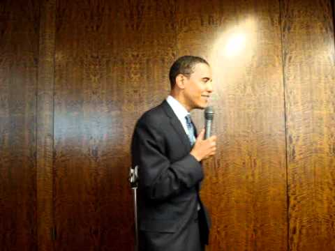 Barack Obama jokes about being a summer associate at a law firm in New York City the year before he was elected president.