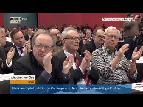 SPD-Parteitag: Sigmar Gabriel hält Rede am 11.12.2015