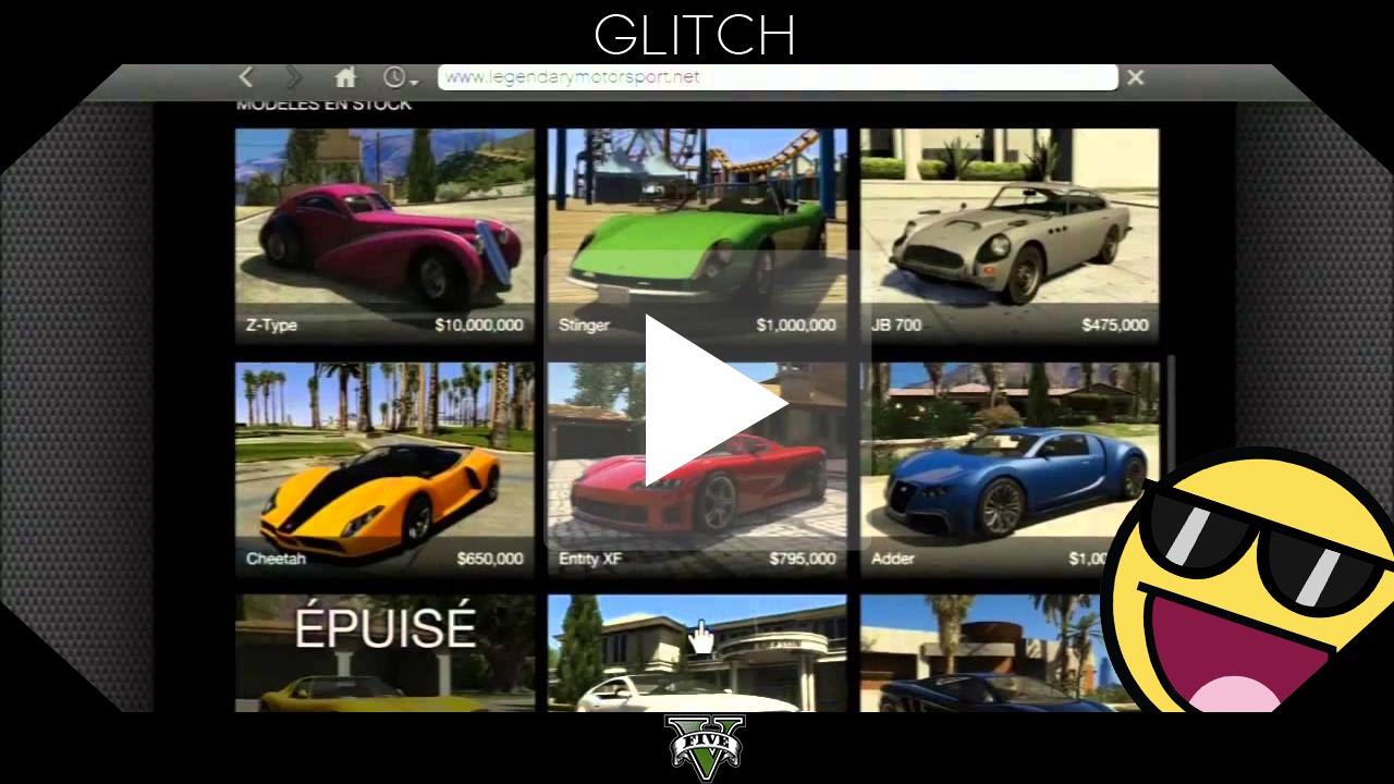 Glitch gta5 obtenir des voitures puis es gratuitement for Acheter cuisine sur internet