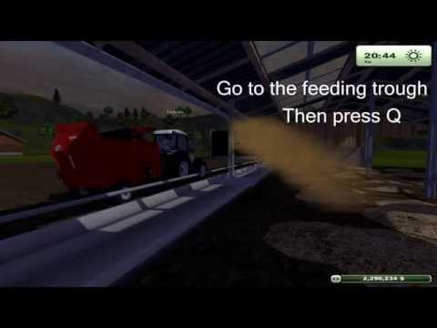 Farming Simulator 2013 how to spread straw