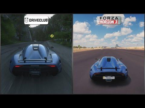 DriveClub vs Forza Horizon 3 - Koenigsegg Regera Sound Comparison