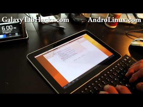 Ubuntu Running on Galaxy Tab 10.1 Android Tablet!
