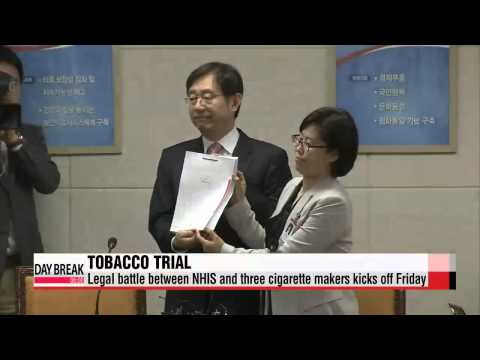 National Health Insurance Service′s tobacco trial against cigarette makers kicks