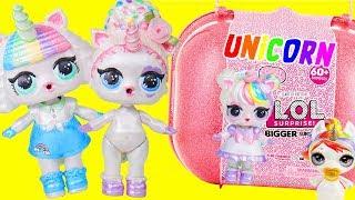 LOL Surprise Dolls Custom Unicorn Bigger Surprise + Bedroom Store | Toy Egg Videos