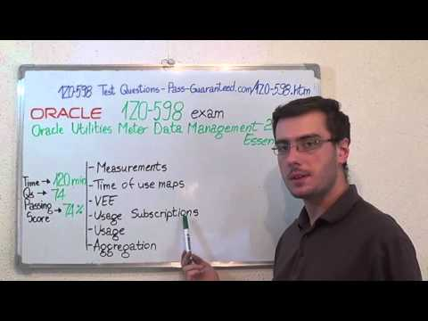 1Z0-598 – Oracle Exam Utilities Meter Data Test Management Questions