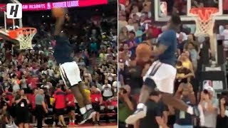 Zion Williamson EPIC Warmup Dunks Before His NBA Debut | July 5, 2019 Summer League
