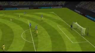 FIFA 14 Android - RC Deportivo VS Real Madrid Gareth Bale Somersault Goal