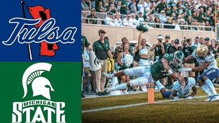 Tulsa vs Michigan State Highlights | NCAAF Week 1 | College Football Highlights
