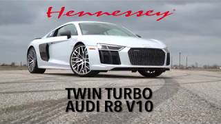 Audi R8 V10 Twin Turbo Test Drive with John Hennessey