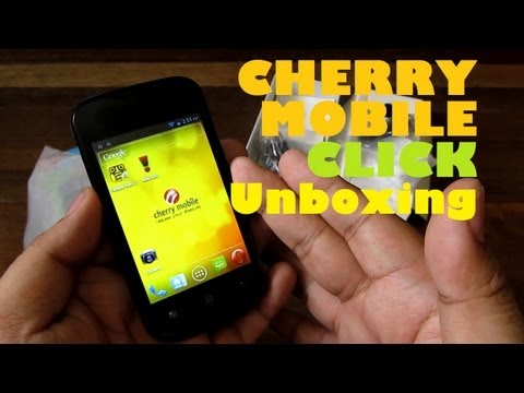 Cherry Mobile Click Unboxing - 3.5