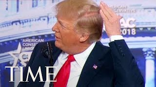 President Trump Jokes About His Bald Spot At CPAC: 'I Try Like Hell To Hide The Bald Spot'  TIME