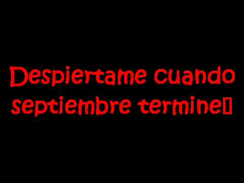 Green Day-Wake me up when september ends Subtitulado español...