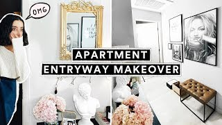 DIY APARTMENT ENTRYWAY MAKEOVER - Parisian Chic