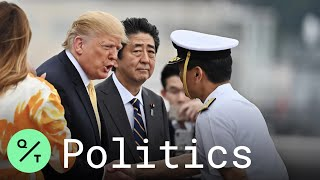 President Trump, PM Abe Tour Japanese Destroyer J.S. Kaga Near Yokosuka Naval Base