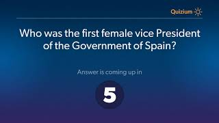 Who was the first female vice President of the Government of Spain?   Spain Quiz