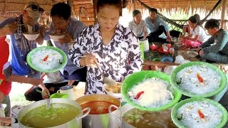 Noodle & Pancake at Teuk Chhou district Kampot province | Famous Nom Banchok Teuk Mahech in Cambodia