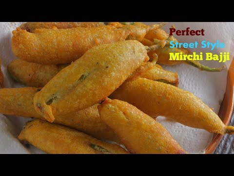 #MirchiBajji| మిరపకాయి బజ్జి | Perfect Street Style Mirchi Bajji Secret Recipe |Mirchi Bajji Recipe