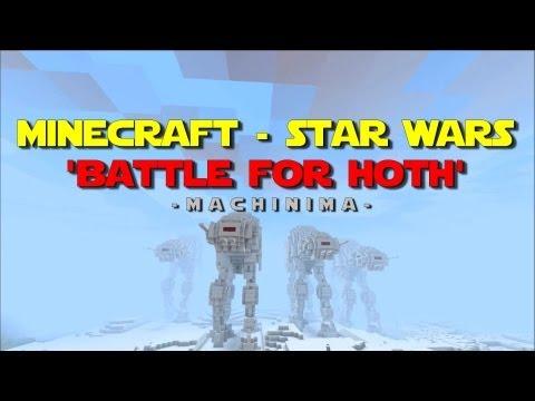 La Batalla de Hoth recreada en el videojuego Minecraft (Star Wars)