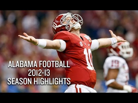 Alabama Crimson Tide 2012-13 Season Highlights - BCS National Champs
