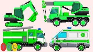 Xe Xúc Đất, Xe Cứu Hỏa, Xe Cứu Thương, Xe Tank 03 | TopKidsGames (TKG) 260