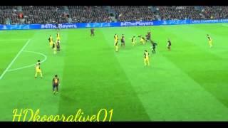أهداف مباراة اتلتيكو مدريد ضد برشلونة 1-1 || 01/04/2014 || دوري ابطال اوروبا 13-14