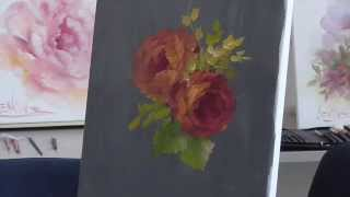 "The Beauty of Oil Painting, Mini Delights Youtube Shows, Episode 2 ""Two Red Roses"""