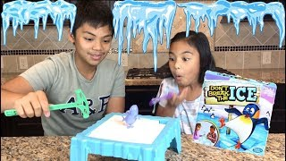 Lil Sis VS Big Bro Don't Break The Ice Family Game + Surprise Toy | Toys Academy