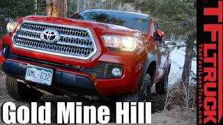 2016 Toyota Tacoma TRD Off-Road takes on a Snowy Gold Mine Hill Review