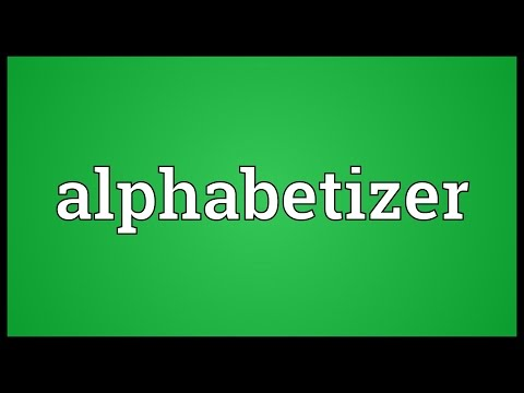 Header of Alphabetizer