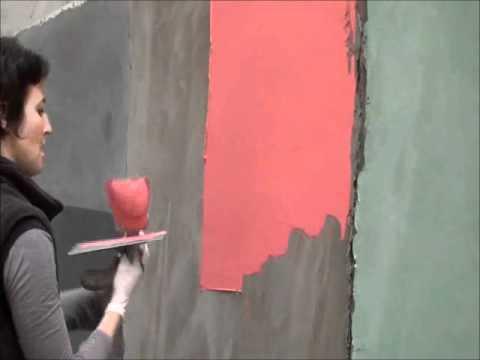 B ton cir taloch ou spatul le reportage cot maison youtube - Peinture a la taloche video ...