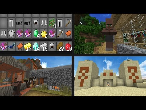 12 TEMPLES AND VILLAGES?! - Minecraft 1.11.2 Seeds - DIAMONDS. LOOT. & MINESHAFTS!