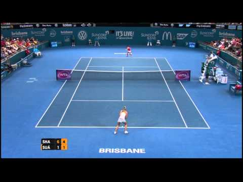 Maria Sharapova v Carla Suárez Navarro highlights (quarterfinals) - Brisbane International 2015