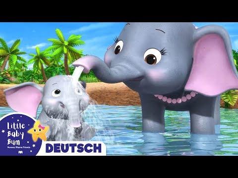 5 Elefanten waschen sich | Kinderlieder | Little Baby Bum Deutsch | Cartoons für Kinder